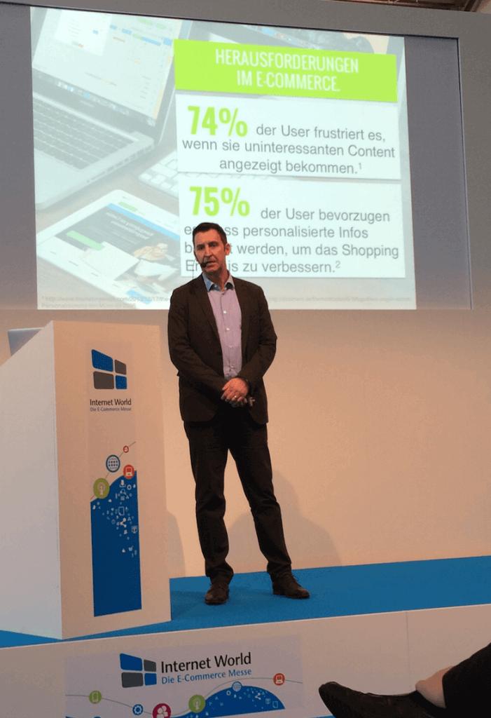 Das Bild zeigt Thorsten Mühling während seines Fachvortrags auf der Internet World 2016.