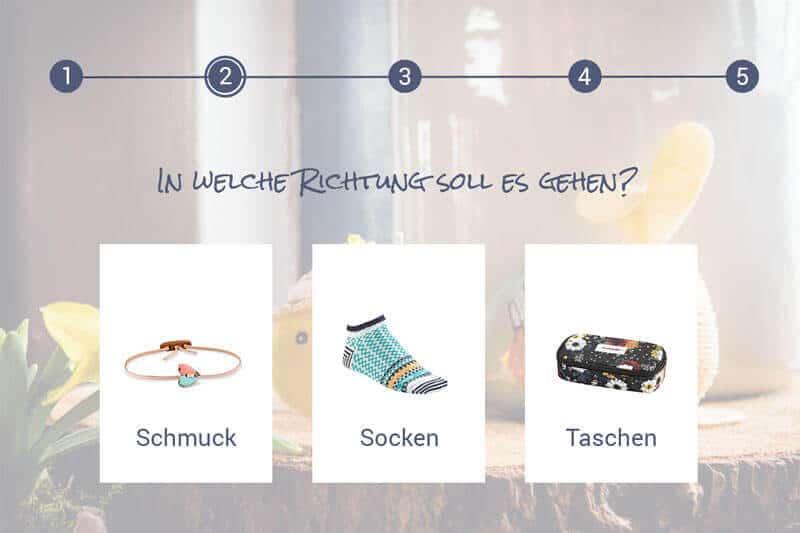 Das Bild zeigt ein Beispiel für einen digitalen Produktberater für Ostern.