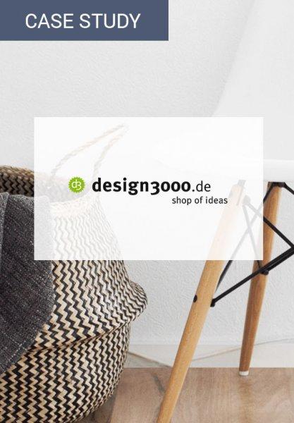 Vorschaubild der Case Study zur Umsatzsteigerung bei design3000 durch den Einsatz von Personalisierung im Newsletter. Dies kann durch E-Mail-Automation realisiert werden.