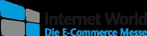 Abgebildet ist das Logo der E-Commerce Messe von Internet World, dessen Events regelmäßig viele Besucher begeistert.
