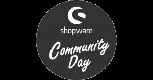 Zu sehen ist das Logo vom shopware Community Day, dessen Events regelmäßig stattfinden.