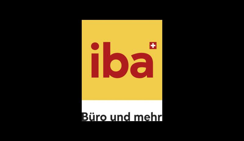 Abgebildet wird das Logo von iba-Büro und mehr. iba zählt zu den epoq Kunden
