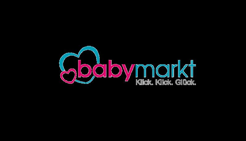 Das Bild zeigt das Logo von babymarkt. Der Online Shop hat durch epoq Services das Einkaufserlebnis seiner Kunden verbessert.