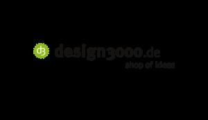 Das Bild zeigt das Logo von design3000.de. Der Online Shop gehört zu den epoq Kunden.