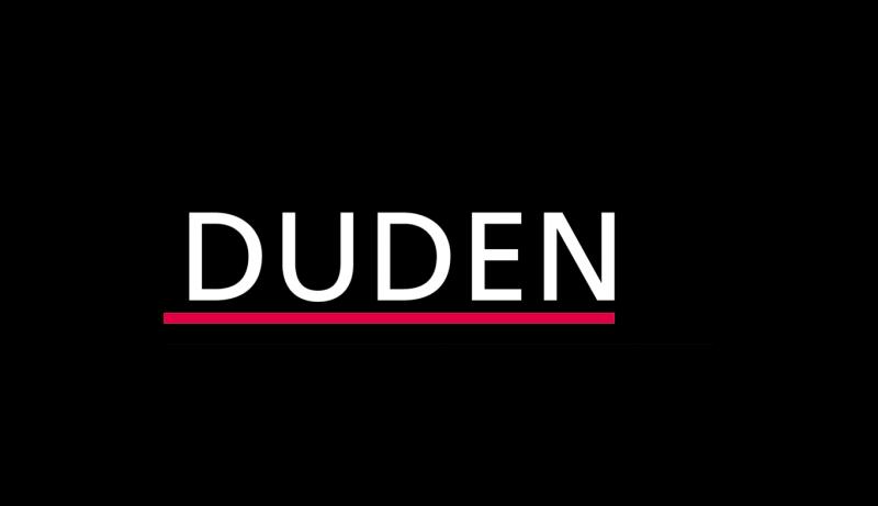 Das Bild zeigt das Logo vom Duden, welcher zu den epoq Kunden gehört.