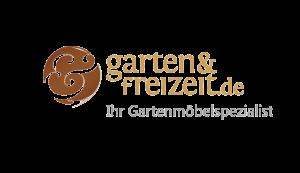 Das Bild zeigt das Logo von garten & freizeit.de. Der Online Shop gehört zu den epoq Kunden.
