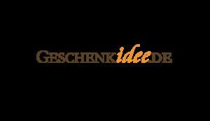 Das Bild zeigt das Logo von Geschenkidee.de. Der Online Shop gehört zu den epoq Kunden.
