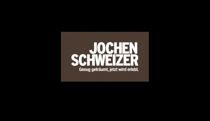 Das Bild zeigt das Logo von Jochen Schweizer. Der Online Shop gehört zu den epoq Kunden.