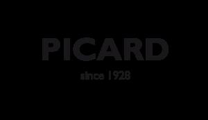 Das Bild zeigt das Logo von Picard. Der Online Shop gehört zu den epoq Kunden.