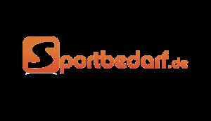 Das Bild zeigt das Logo von Sportbedarf.de. Der Online Shop gehört zu den epoq Kunden.