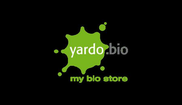 Das Bild zeigt das Logo von yardo.bio. Der Online Shop gehört zu den epoq Kunden.