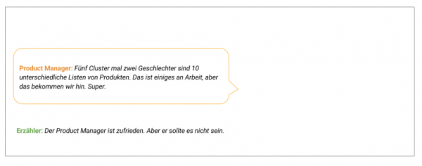 Fiktiver Dialog zu e-Commerce Recommendations