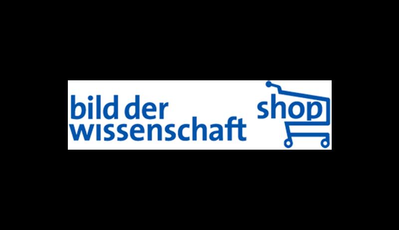 Das Bild zeigt das Logo von Bild der Wissenschaft. Der Online Shop gehört zu den epoq Kunden.