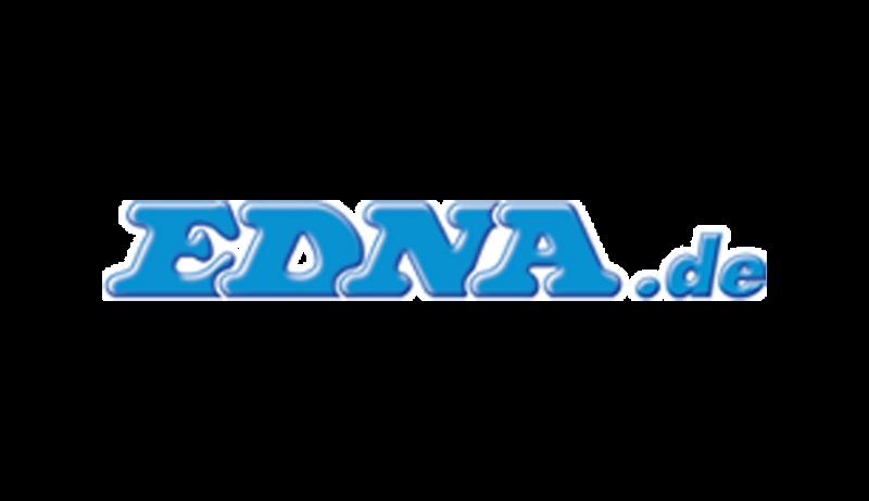 Das Bild zeigt das Logo von edna.de. Edna gehört zu den epoq Kunden.