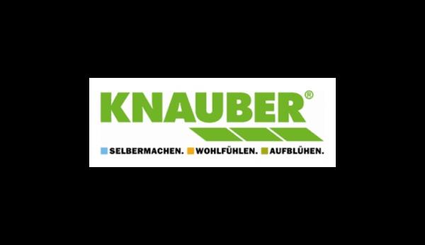Das Bild zeigt das Logo von Knauber. Der Online Shop gehört zu den epoq Kunden.