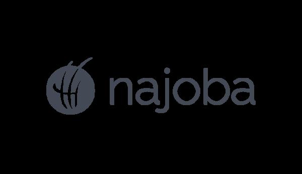Das Bild zeigt das Logo von najoba. Der Online Shop gehört zu den epoq Kunden.