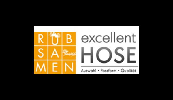 Das Bild zeigt das Logo von excellent HOSE. Der Online Shop gehört zu den epoq Kunden.