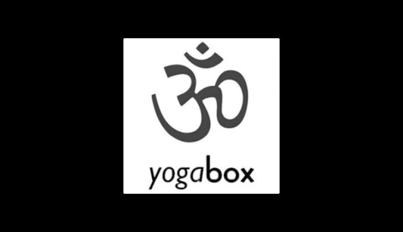 Das Bild zeigt das Logo von dem Online Shop yogabox. Yogabox gehört zu den epoq Kunden.