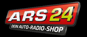 Das Logo von dem Online Shop ARS 24 ist in den Farben Rot und Schwarz. Der Schriftzug ist weiß und grün. Der Shop nutzt für die Suche die Intelligente Suche von epoq im Online Shop.