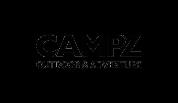 Abgebildet ist das Logo von campz in schwarzer Schrift. campz ist ein Online Shop mit Outdoor Bekleidung, der die Funktionalität der E-Commerce Recommendation im Online Shop nutzt.