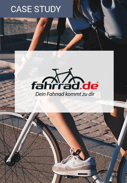 Vorschaubild der Case Study zur Umsatzsteigerung von fahrrad.de. Eine Umsatzsteigerung kann durch den Einsatz von selbstlernenden Algorithmen erreicht werden.