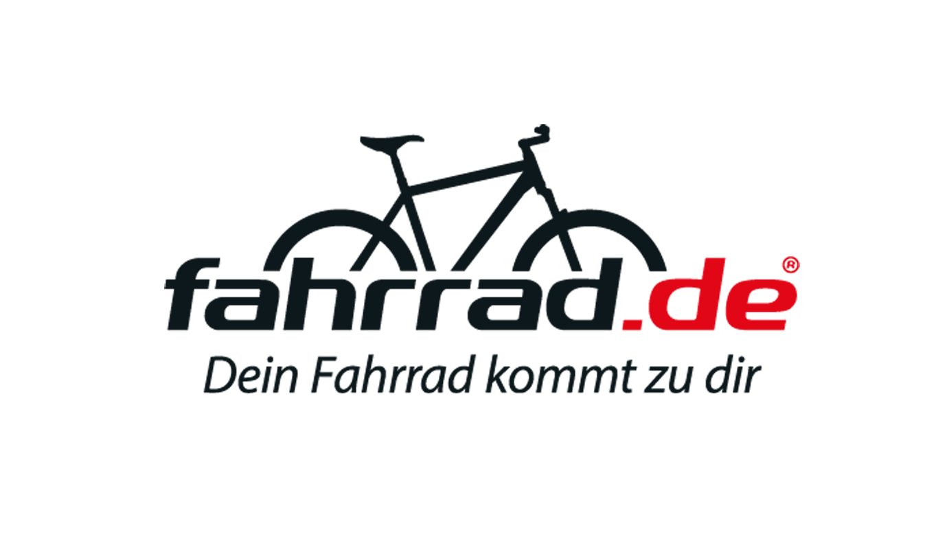 The image shows the logo of the online shop fahrrad.de. fahrrad.de is one of epoq's customers.