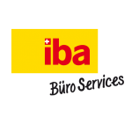 The image shows the logo of the online shop iba Buero Services. iba Buero Services is one of epoq's customers.