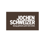 The image shows the logo of the online shop JOCHEN SCHWEIZER. JOCHEN SCHWEIZER is one of epoq's customers.
