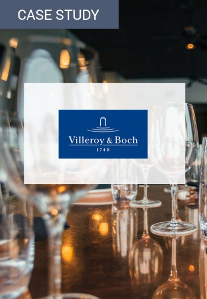 Vorschaubild der Case Study zur Umsatzsteigerung im Online Shop von Villeroy & Boch. Der Umsatz ist wie die Absprungrate eine wichtige Kennzahl.