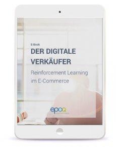 """Ein E-Book, geöffnet in einem iPad mit dem Inhalt zu """"mittels Reinforcement Learning Recommendation Engines trainieren""""."""