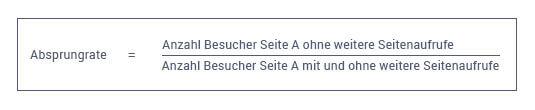 Formel zur Berechnung der Absprungrate.