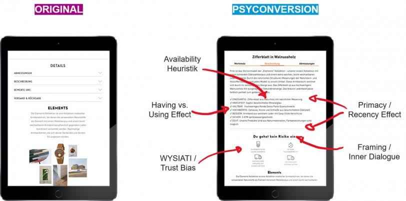 Optimierung der Produktbeschreibung durch den Einsatz von Behavior Patterns im Online Shop von Kerbholz